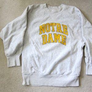 1990s Notre Dame Sweathirt L Bike